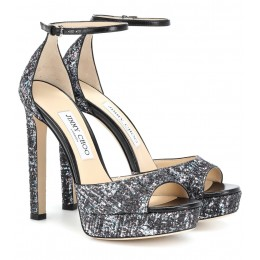 Jimmy Choo 130 bubble gum sandals